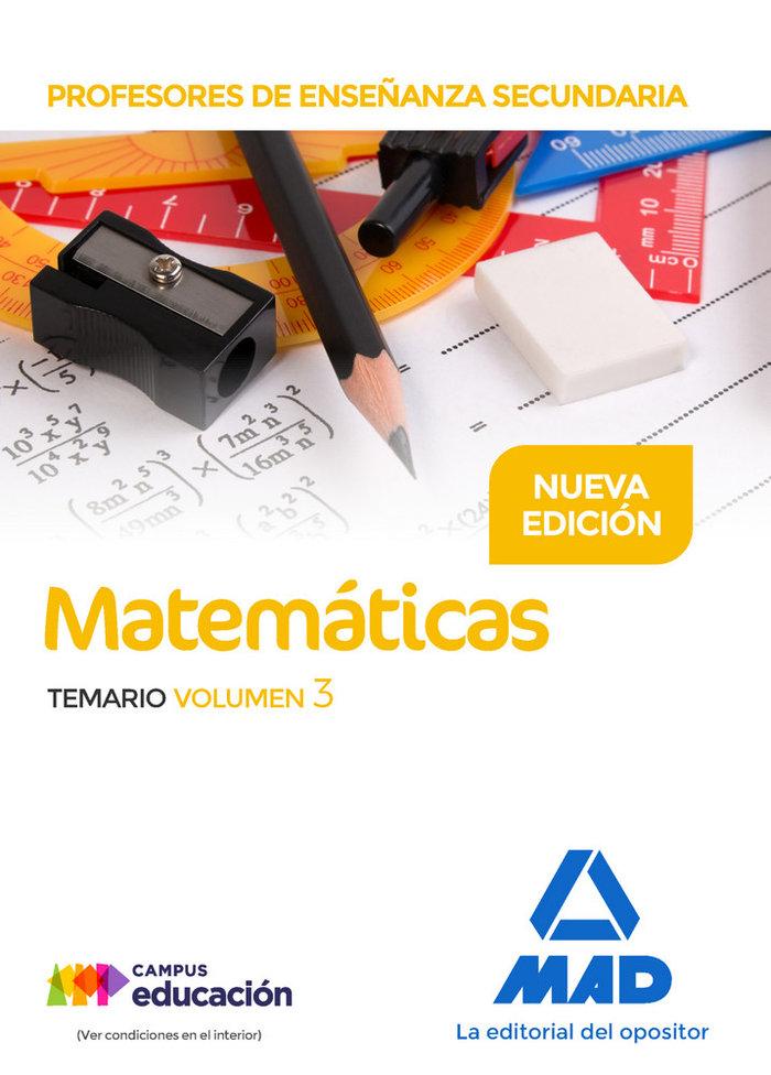 Profesores enseñanza secundaria matematicas temario vol 3