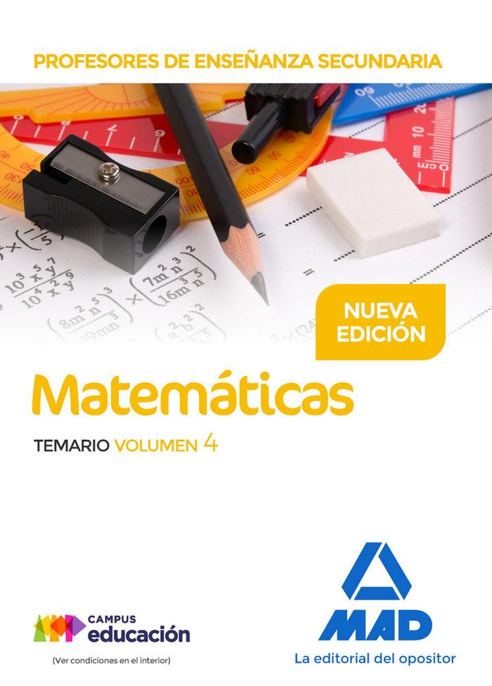 Profesores enseñanza secundaria matematicas temario vol 4