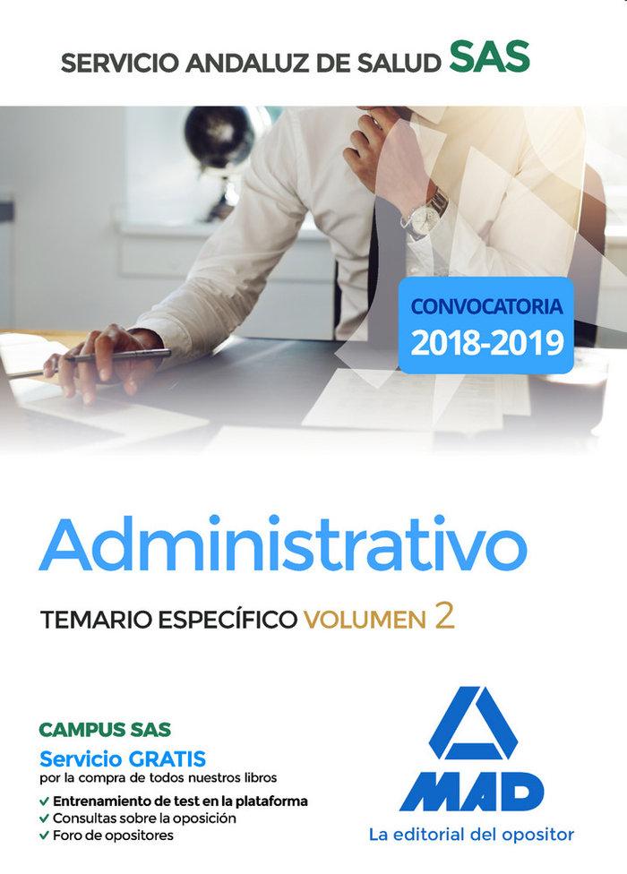 Administrativo servicio andaluz salud especifico vol 2