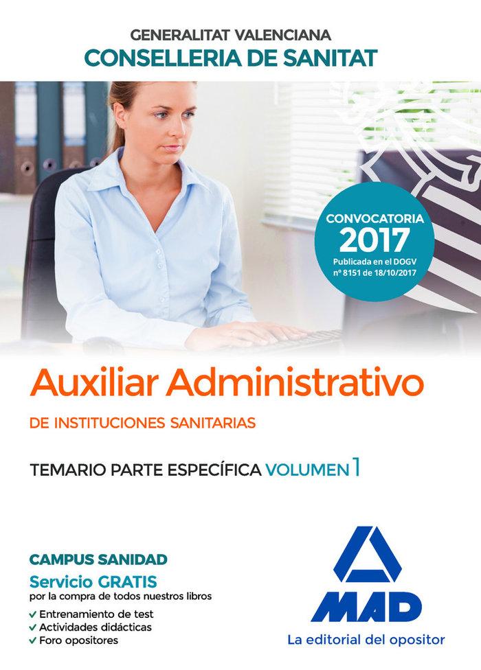 Auxiliar administrativo de la conselleria de sanitat de la g