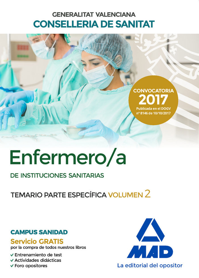 Enfermero/a instituciones sanitarias conselleria valencia 2