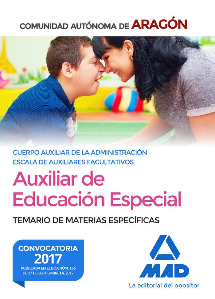 Auxiliar administracion aragon educacion especial especific