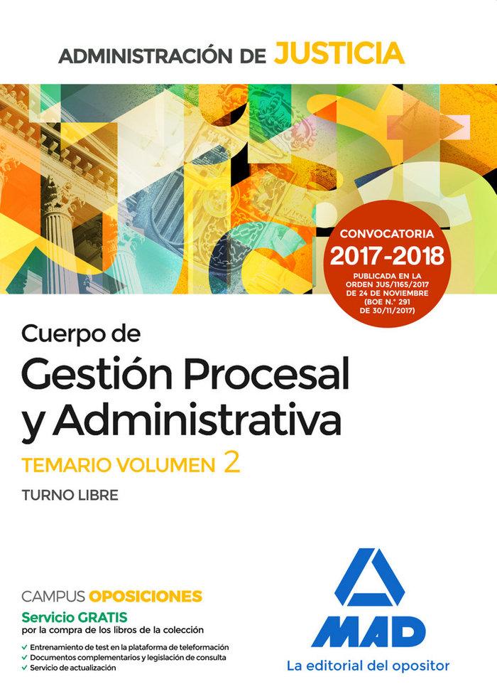 Cuerpo de gestion procesal y administrativa temario vol ii
