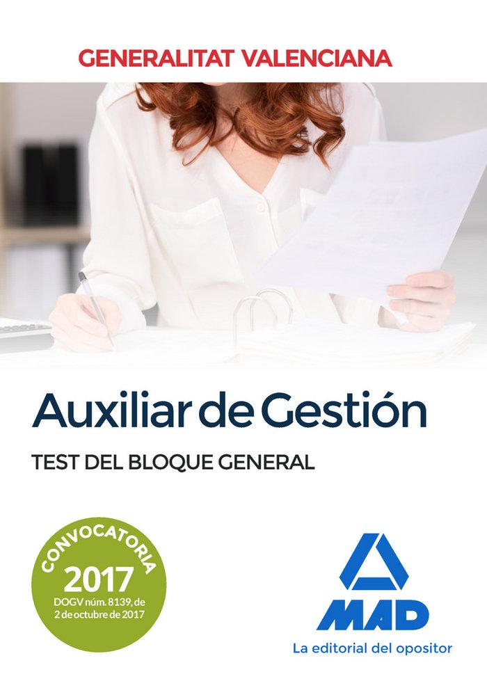 Auxiliar de gestion de la generalitat valenciana. test del b