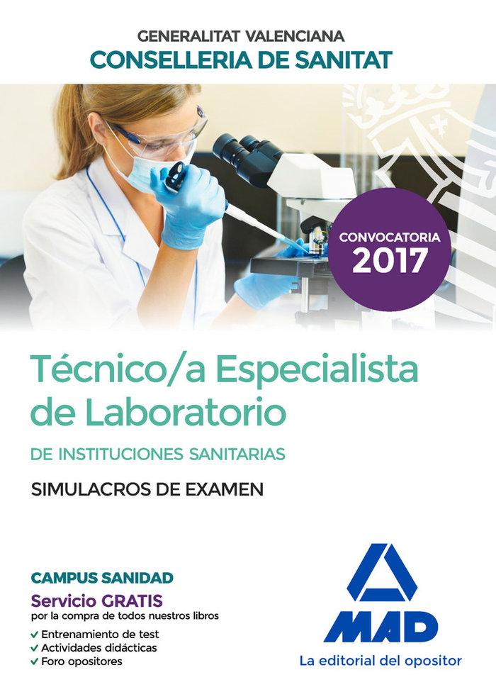 Tecnico/a especialista de laboratorio de instituciones sanit