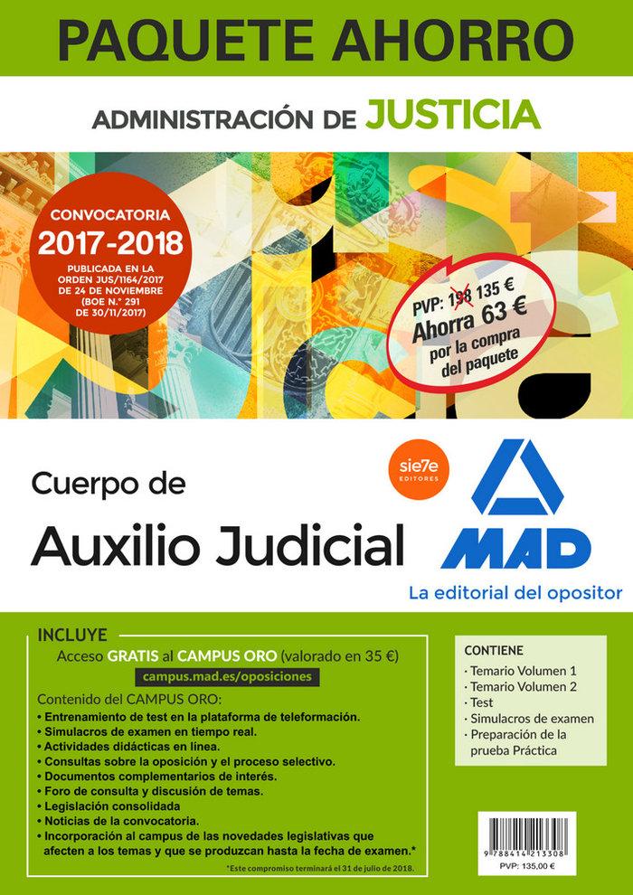 Paquete ahorro auxilio judicial 2017