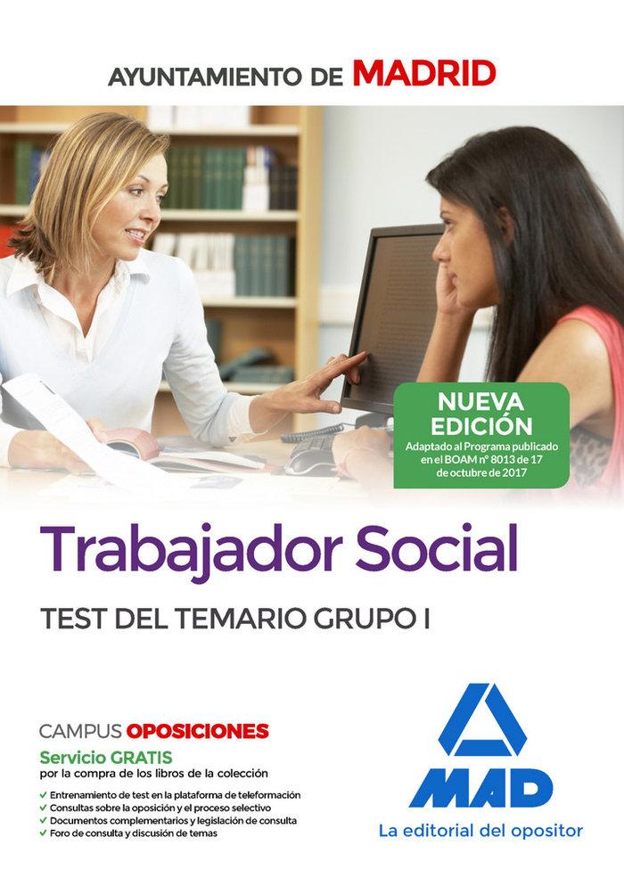 Trabajador social ayuntamiento madrid test tema grupo 1