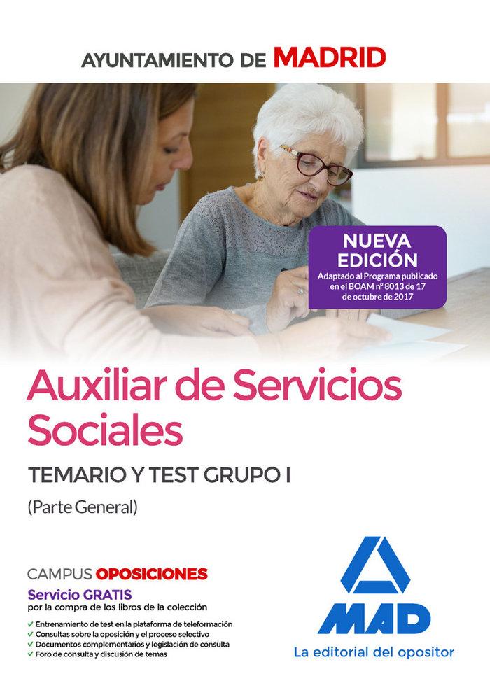 Aux servicios sociales ayto madrid grupo i temario y test