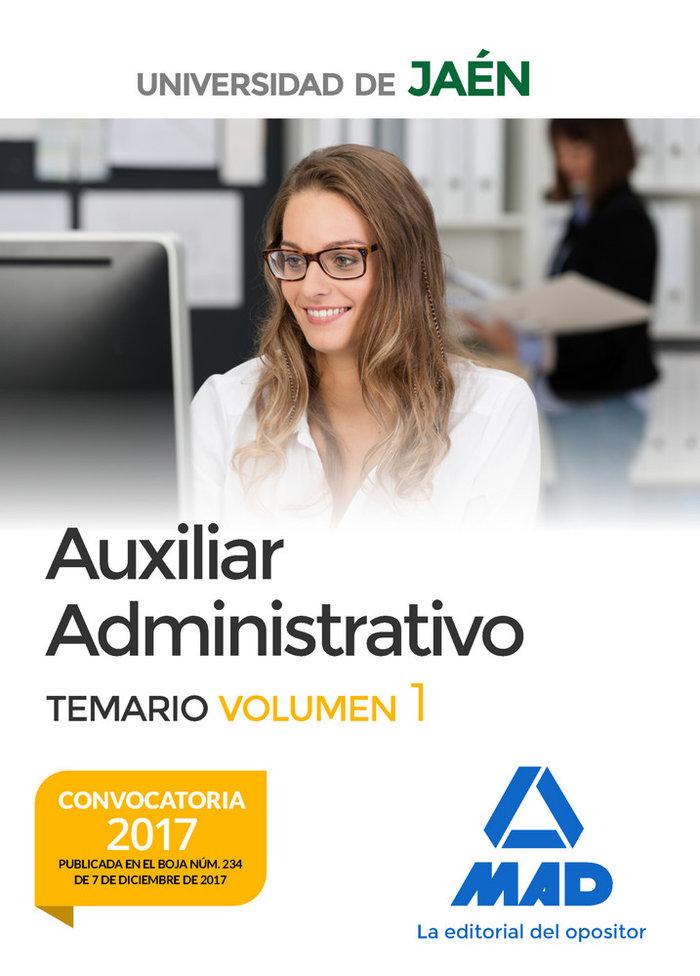 Auxiliar administrativo universidad jaen temario