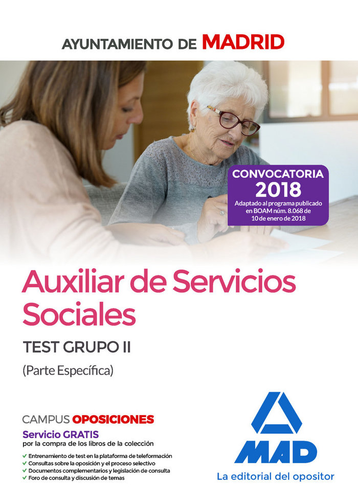 Aux servicios sociales ayto madrid test grupo ii p especific