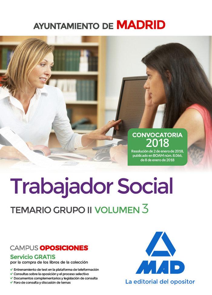 Trabajador social ayuntamiento madrid vol 3 grupo 2
