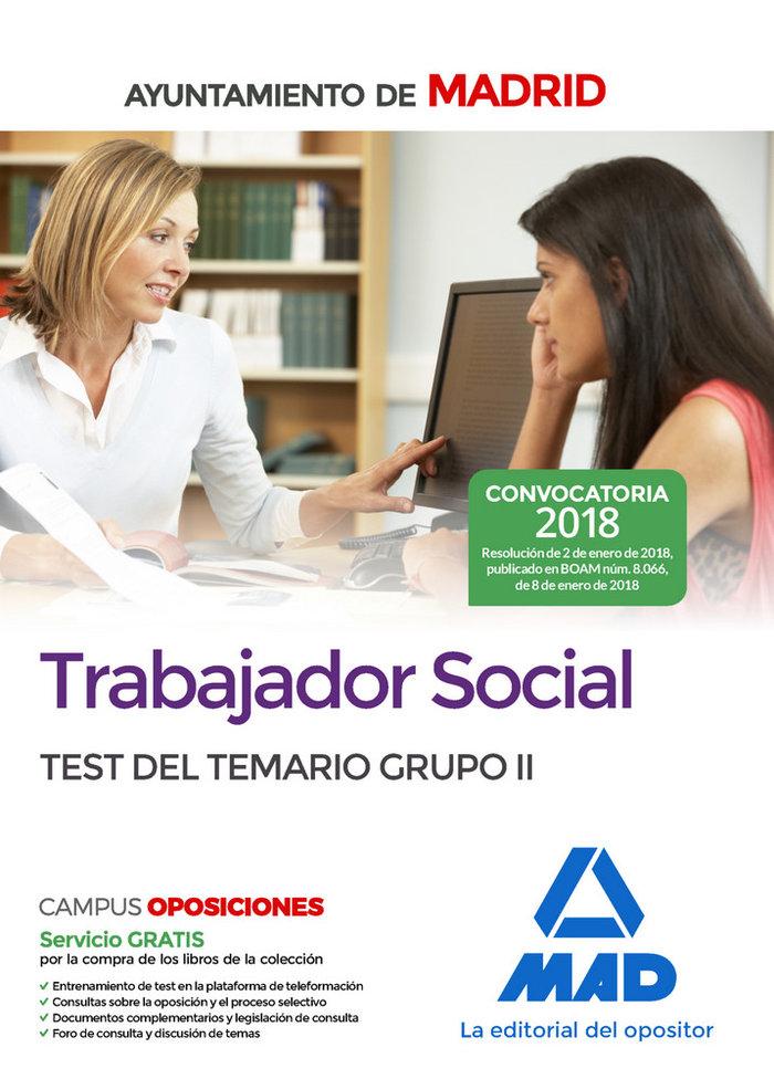 Trabajador social ayuntamiento madrid test temario grupo 2