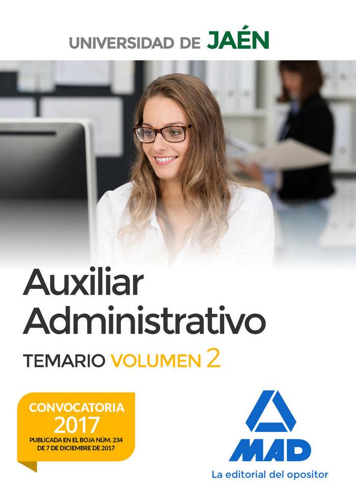 Auxiliar administrativo universidad jaen temario 2