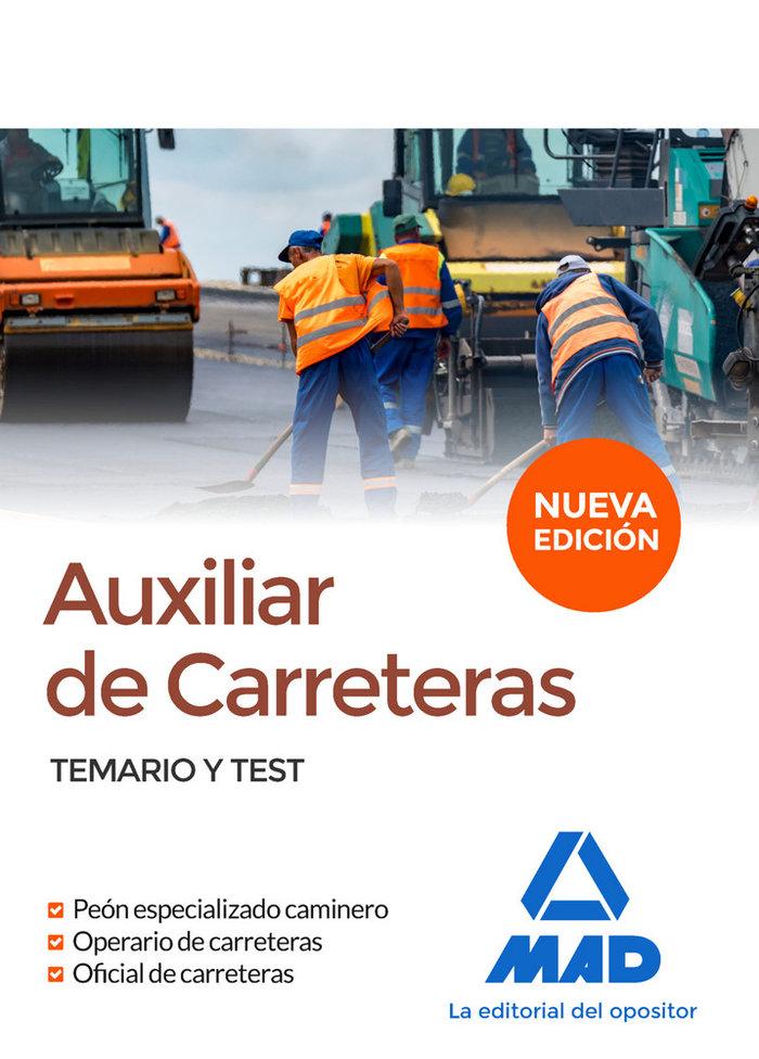 Auxiliar de carreteras temario y test