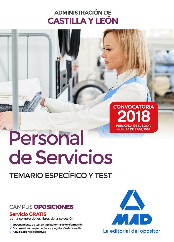 Personal servicios administracion c.leon especifico y test