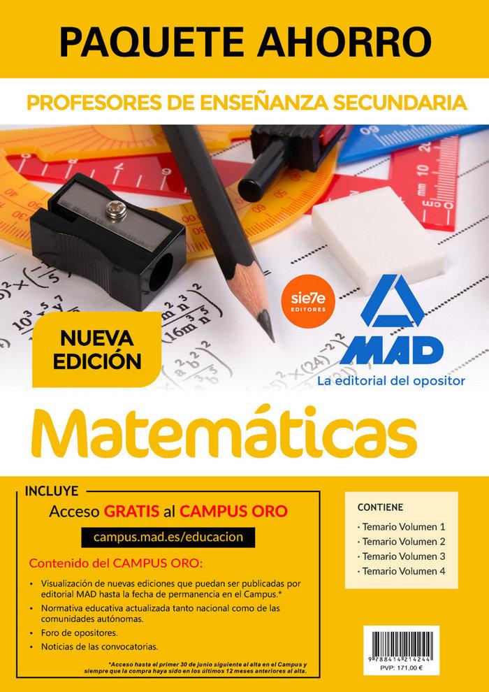 Paquete ahorro matematicas cuerpo profesores enseñanza secu