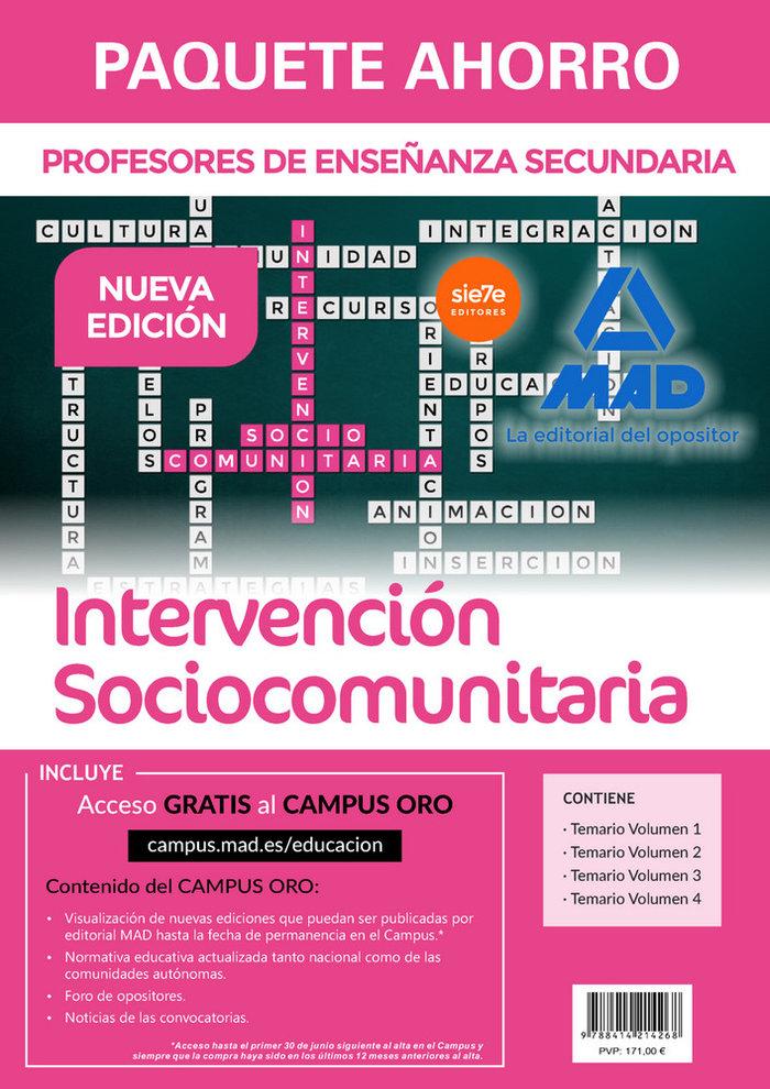 Paquete ahorro intervencion sociocomunitaria cuerpo profeso