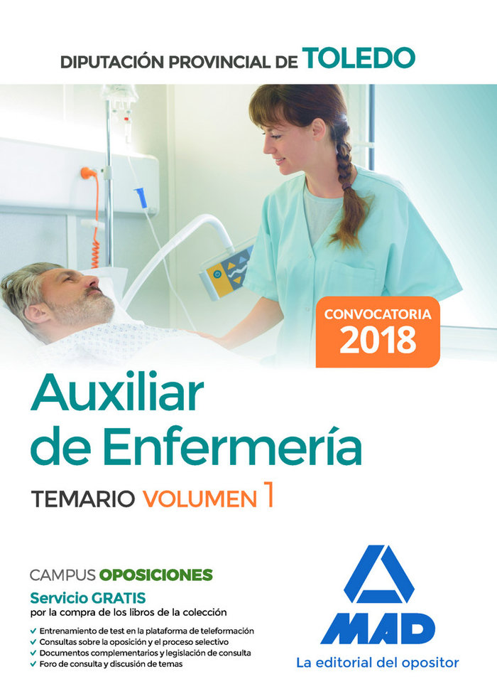 Auxiliar enfermeria diputacion provincial toledo vol 1