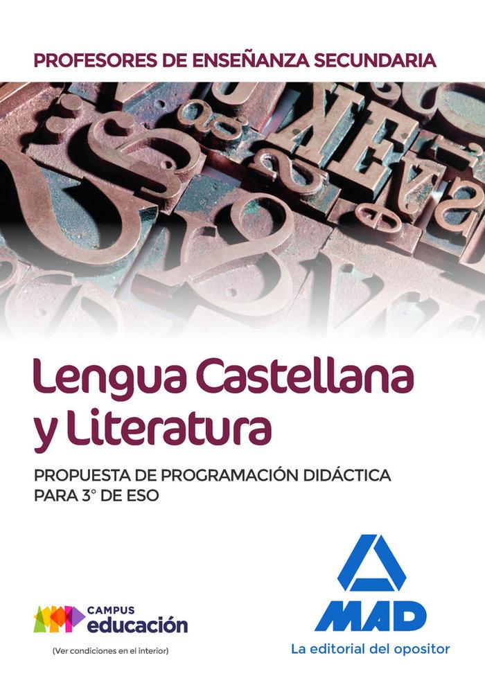 Pes lengua literatur programacion didactica 3º eso