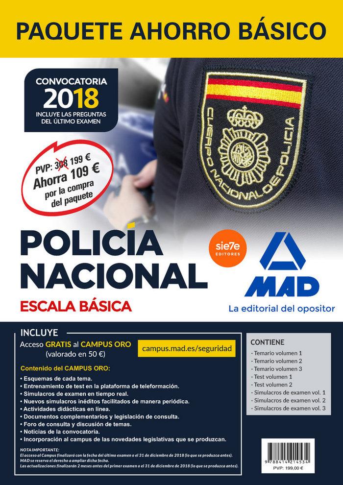 Paquete ahorro basico escala basica policia nacional 2018