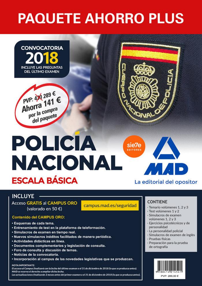 Paquete ahorro plus escala basica policia nacional 2018