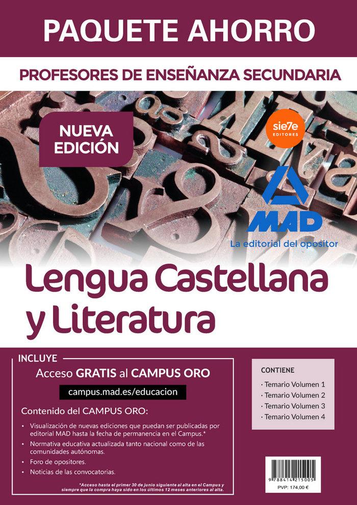 Paquete ahorro lengua castellana literatura profesor eso