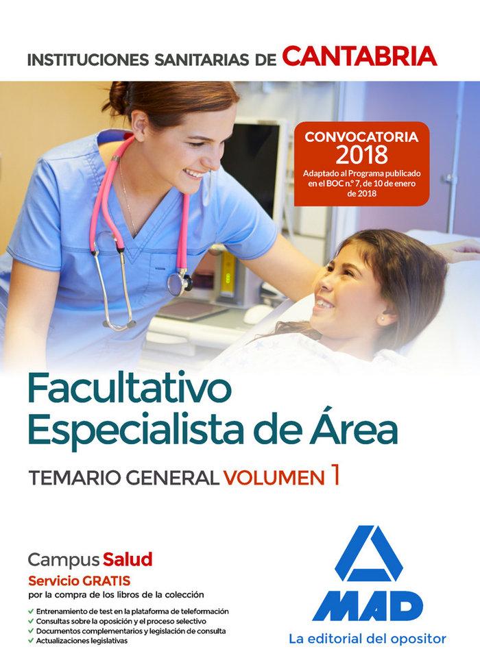 Facultativo especialista sanitario cantabria vol 1 2018