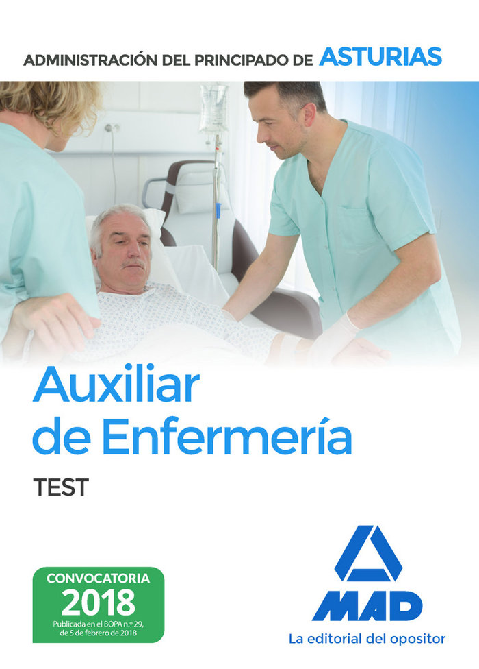 Auxiliar enfermeria test principado asturias