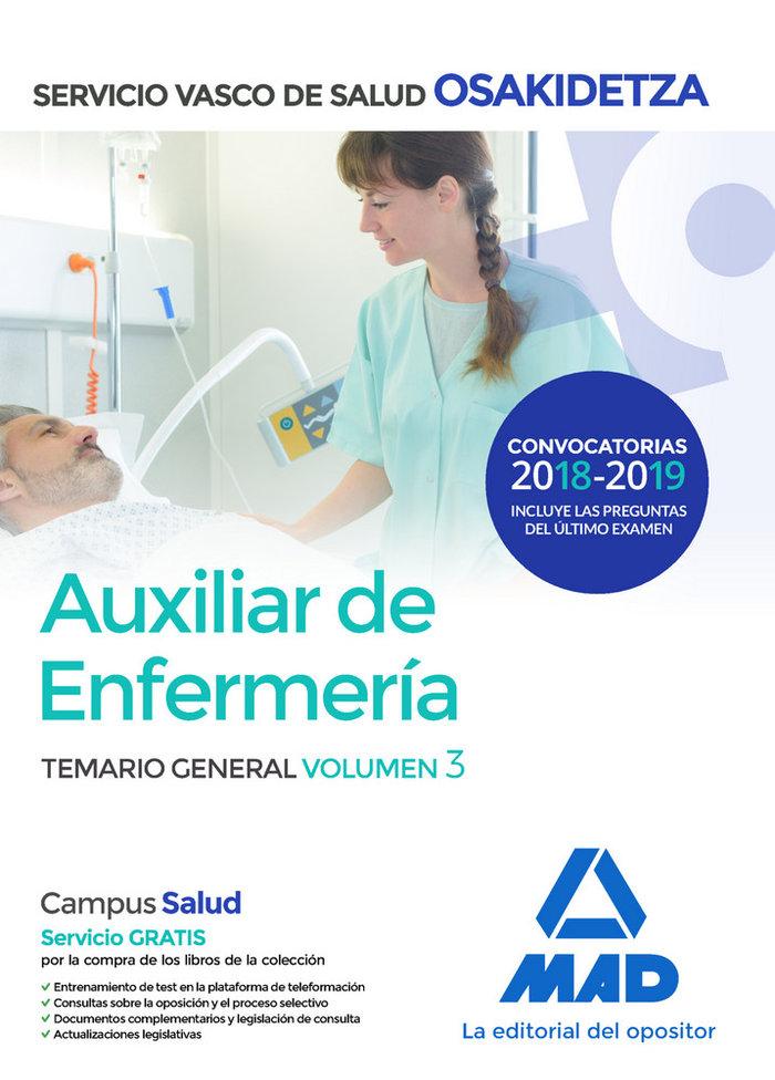 Auxiliar enfermeria vol 3 osakidetza