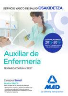 Auxiliar enfermeria osakidetza temario comun y test 2018