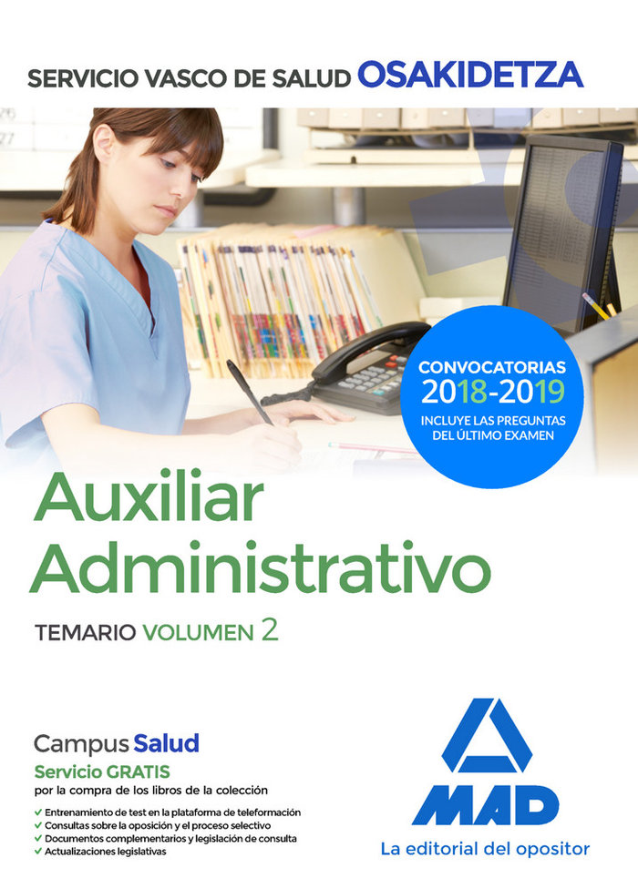 Auxiliar administrativo vol 2 osakidetza