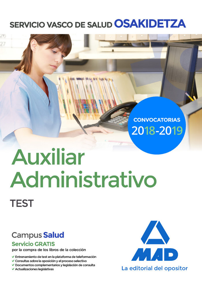 Auxiliar administrativo test osakidetza