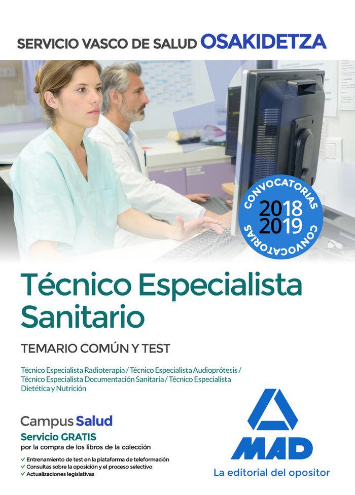 Tecnico especialista sanitar comun test osakidetza