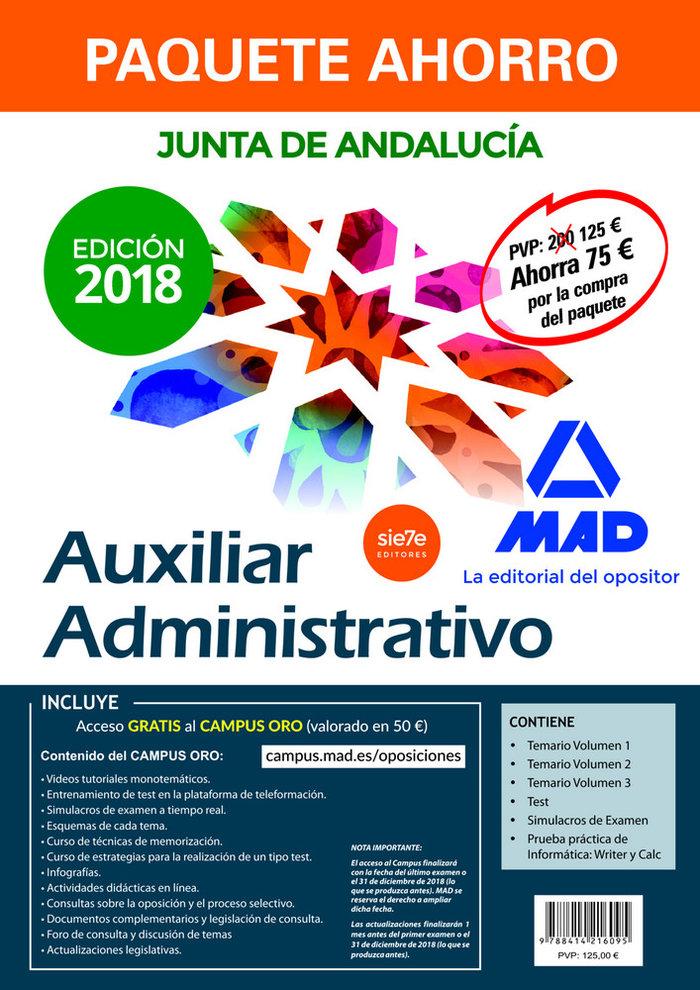 Paquete ahorro auxiliar administrativo junta andalucia