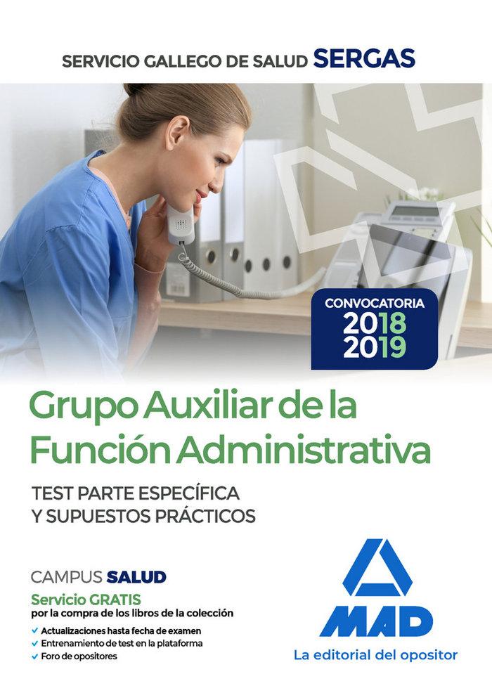 Grupo auxiliar funcion administrativa test servicio gallego