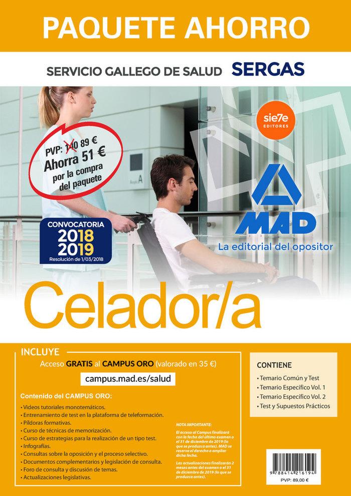 Paquete ahorro celador del servicio gallego de salud. ahorra