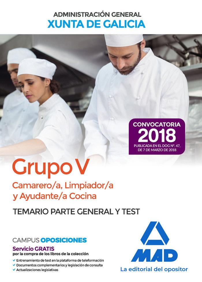 Camarero/a limpiador/a y ayuda temario y test galicia