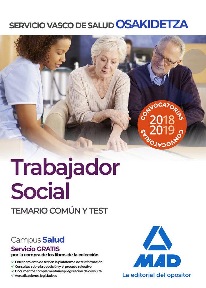 Trabajador social osakidetza temario comun y test
