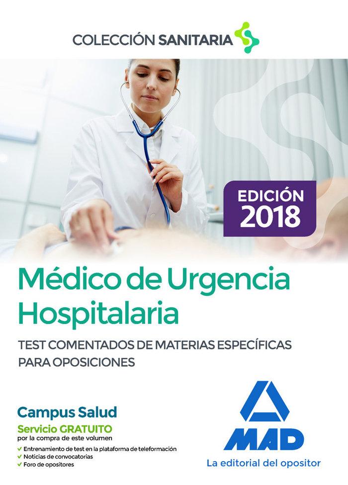 Medico de urgencia hospitalaria. test comentados de materias