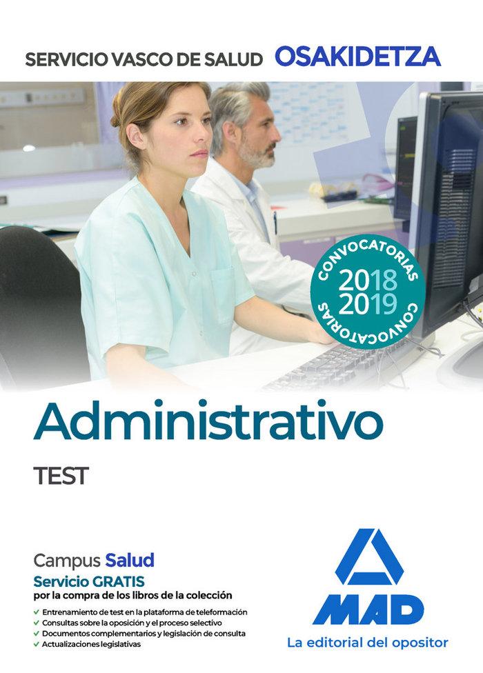 Administrativos test osakidetza