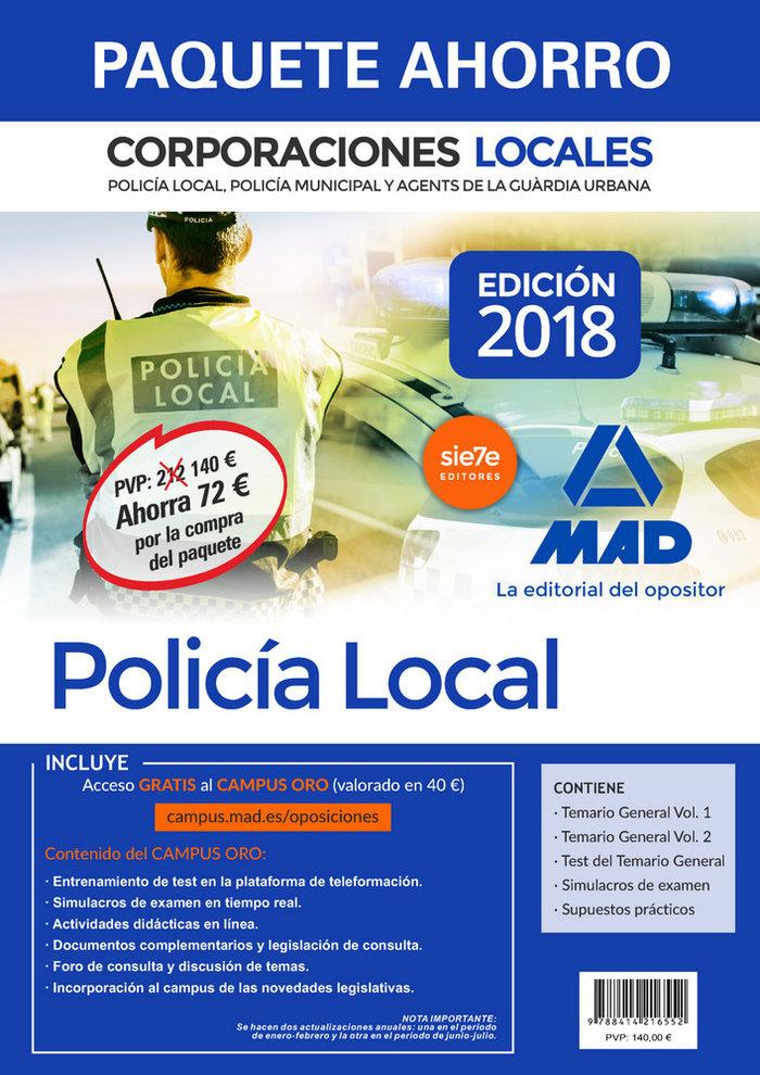 Paquete ahorro policia local corporaciones locales