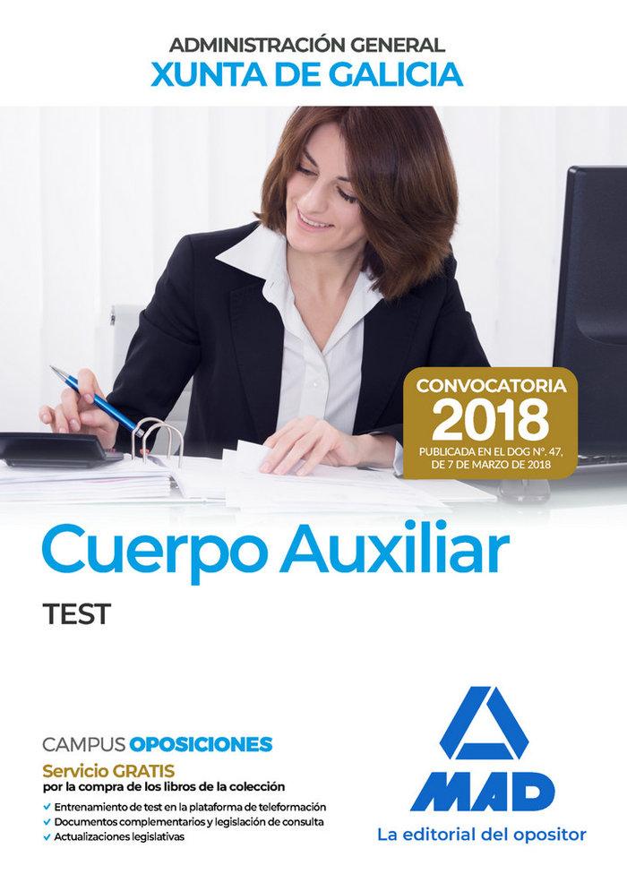 Cuerpo auxiliar xunta galicia convocatoria 2018 test