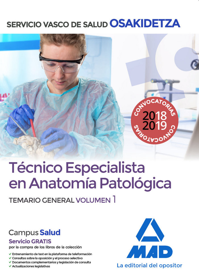 Tecnico especialista anatomia patologica volumen 1 osakidet