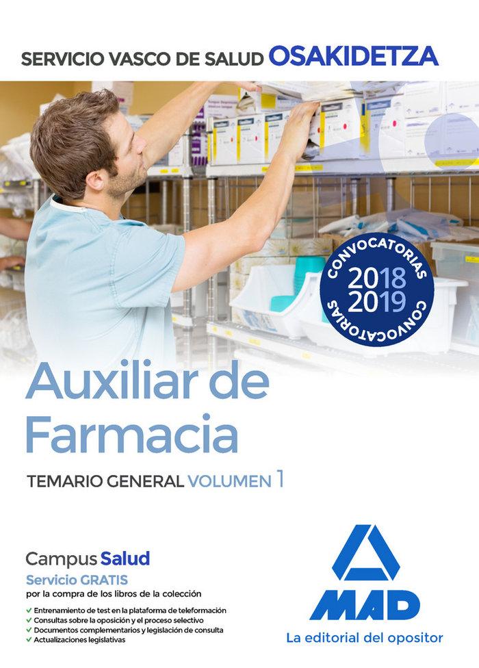 Auxiliares farmacia volumen 1 osakidetza