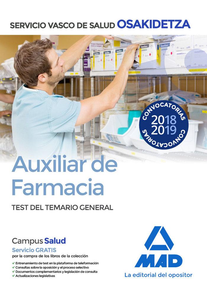 Auxiliar farmacia osakidetza test