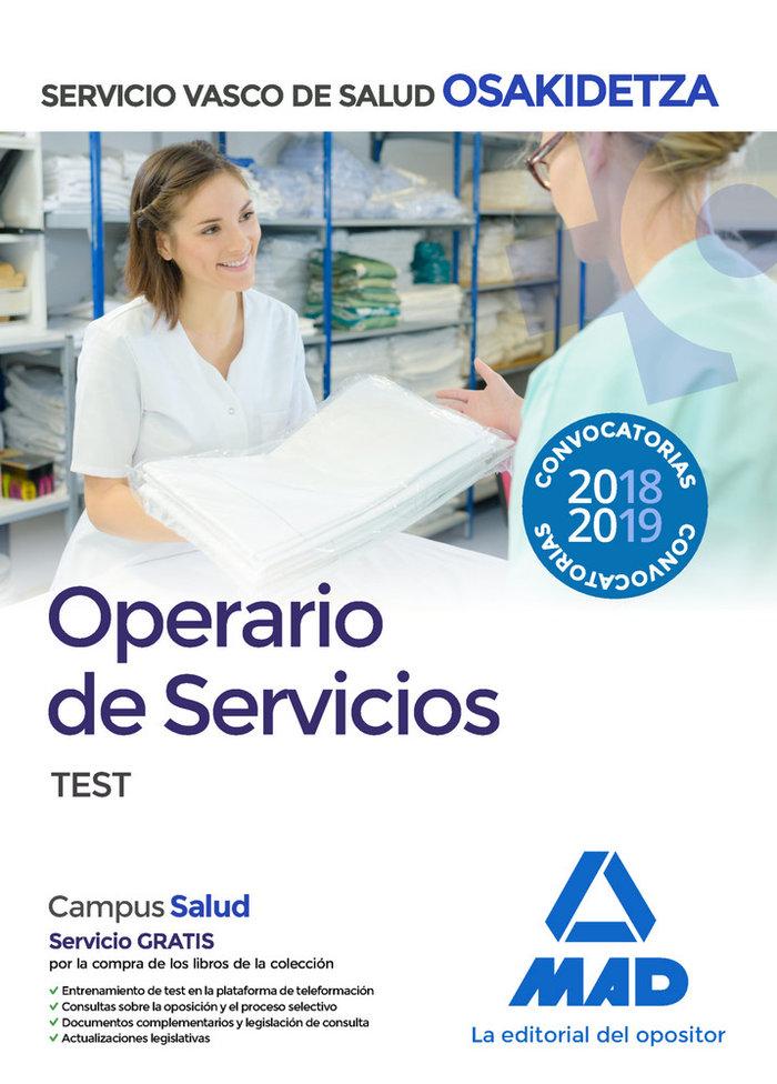 Operario/a servicios osakidetza servicio vasco test