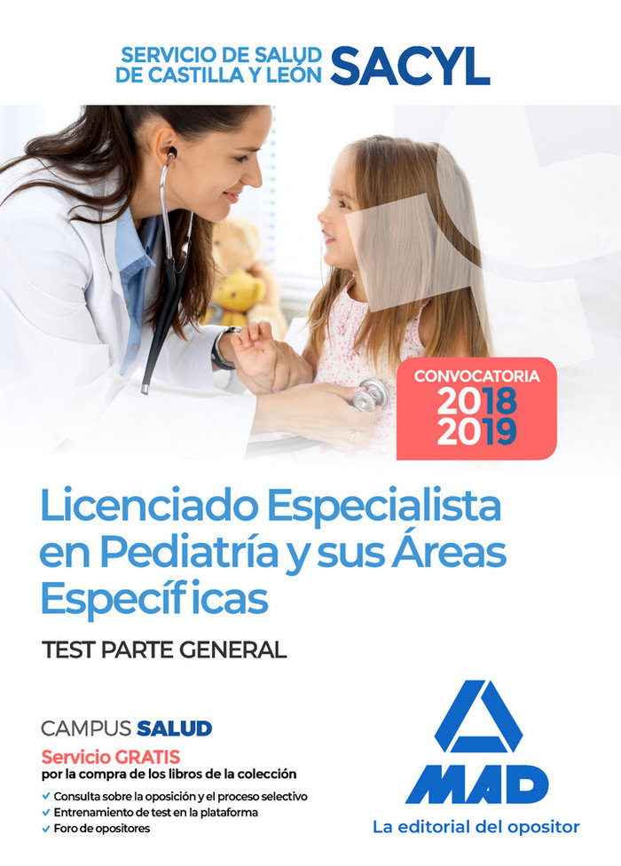Licenciado especialista pediatria test sacyl