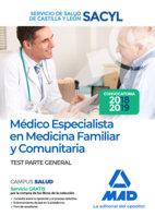 Medico medicina familiar test sacyl