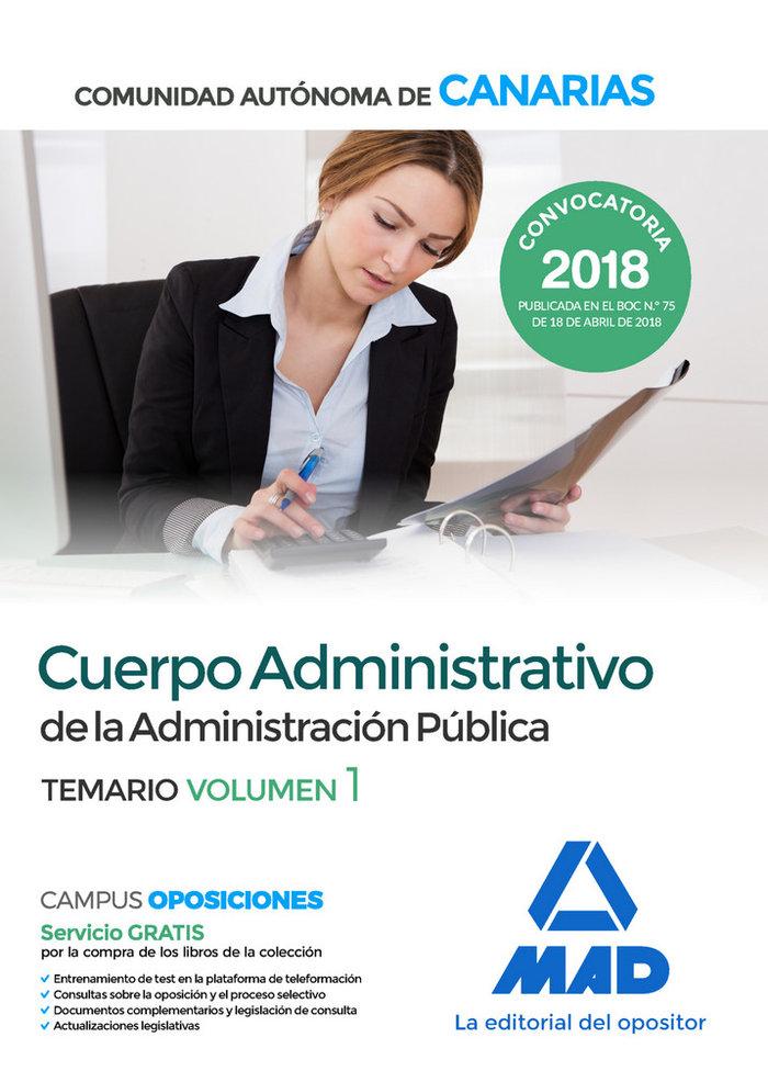 Cuerpo administrativo administracion canaria vol 1