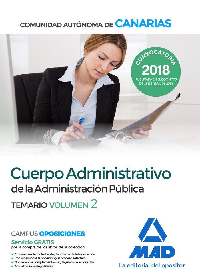 Cuerpo administrativo administracion publica canarias vol 2